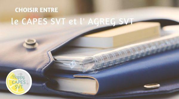 CAPES SVT ou AGREG SVT ?