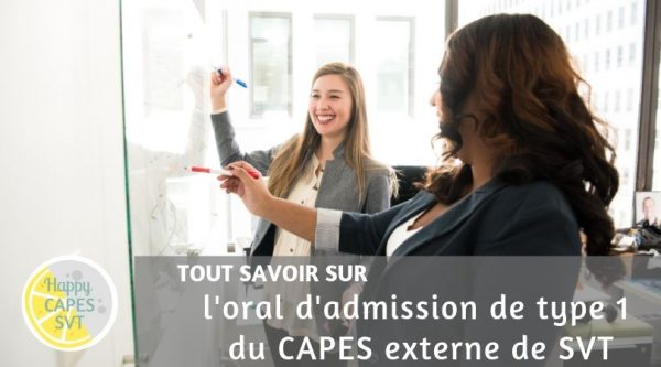 CAPES SVT : l'oral d'admission de type 1