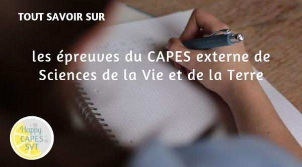 Les épreuves du CAPES externe de SVT
