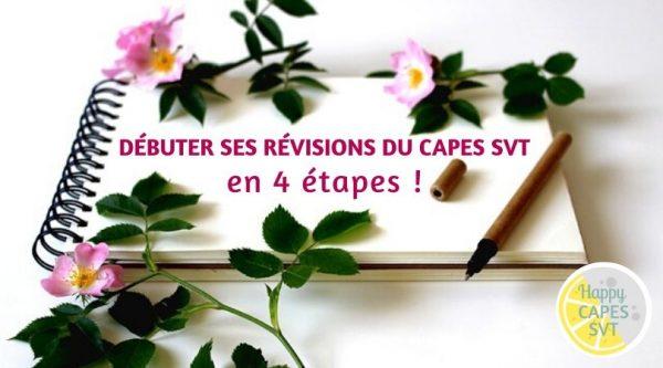 Débuter ses révisions du CAPES externe de SVT en 4 étapes